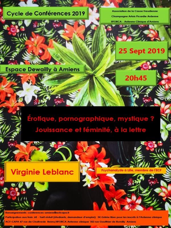 Conférence de Virginie Leblanc